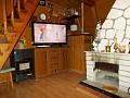 Chata Beckov - Obývačka s krbom